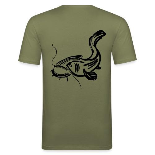 Waller Carp Predators - Männer Slim Fit T-Shirt