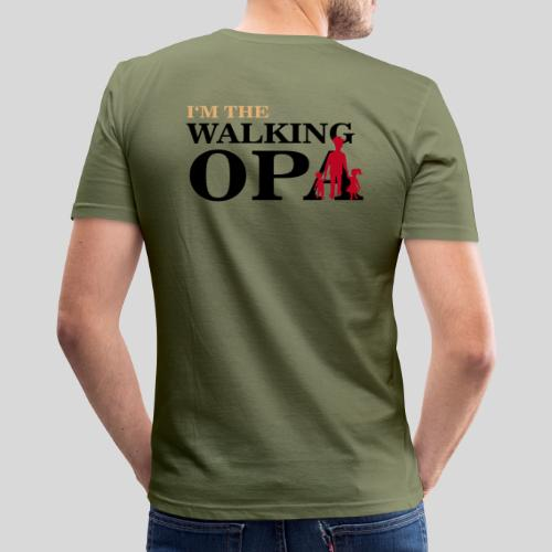 The Walking Opa 1 - Männer Slim Fit T-Shirt