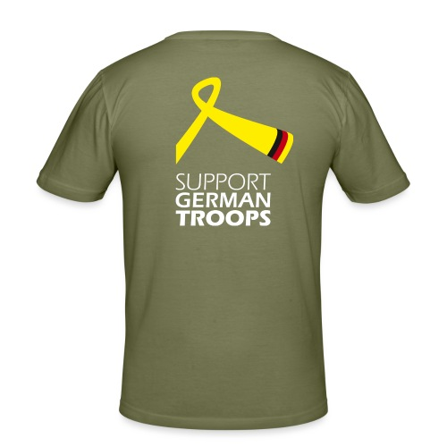 Support German Troops w - Männer Slim Fit T-Shirt