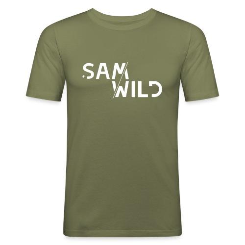 Wild White banner - Men's Slim Fit T-Shirt