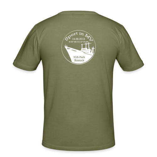 Sport in MV 2013 weiss png - Männer Slim Fit T-Shirt