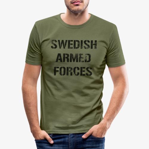 SWEDISH ARMED FORCES Rugged + SWE Flag - Slim Fit T-shirt herr