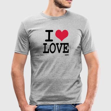 i love love - Miesten tyköistuva t-paita
