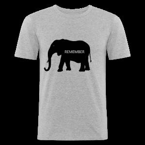 Elephant Collection - Slim Fit T-skjorte for menn