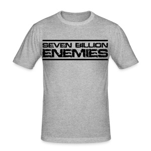 Seven Billion Enemies - NOIR - Tee shirt près du corps Homme