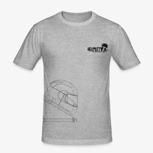 HellMutt LOGO Bracket - Men's Slim Fit T-Shirt