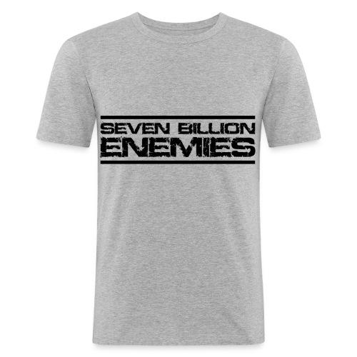 Seven Billion Enemies - NOIR - T-shirt près du corps Homme