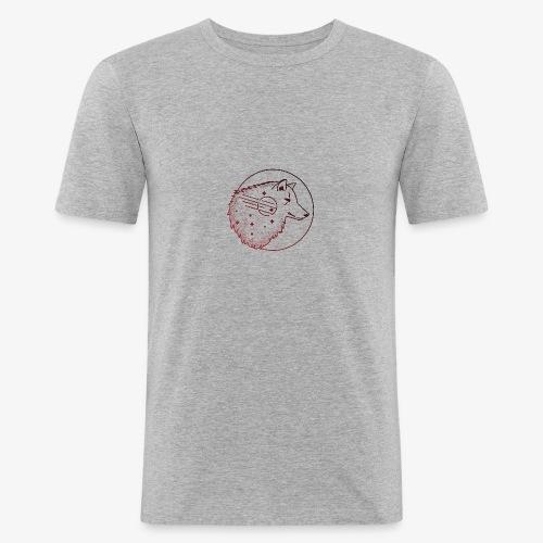 Scario | Wolf-Illustration - Männer Slim Fit T-Shirt
