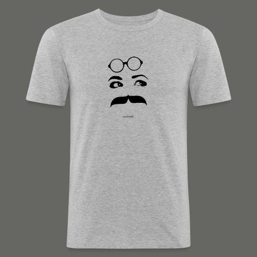 Mousteyeche First -nero- - Maglietta aderente da uomo