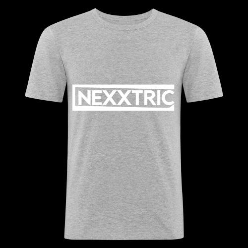 logo blanc NEXXTRIC - T-shirt près du corps Homme