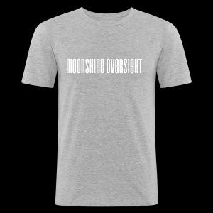 moonshine oversight blanc - Tee shirt près du corps Homme