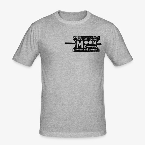 One Way Ticket To The Moon - T-shirt près du corps Homme