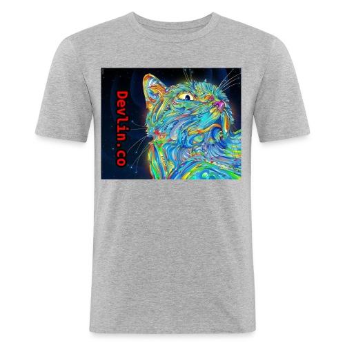 Trippy cat - Men's Slim Fit T-Shirt