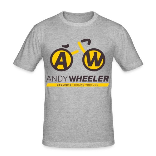 AW CYCLISME logo 2 - T-shirt près du corps Homme
