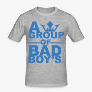 Bad boys blauw1 1 - slim fit T-shirt