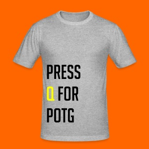 Press Q for play of the game - Men's Slim Fit T-Shirt