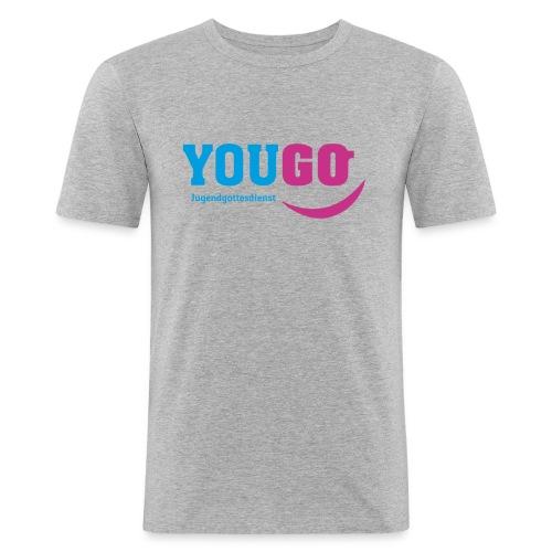 YouGo Blau-Magenta - Männer Slim Fit T-Shirt