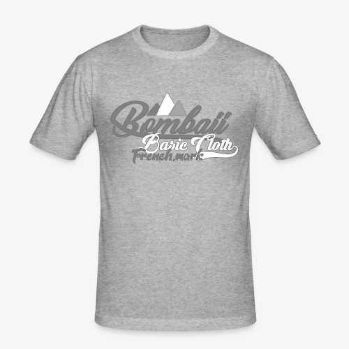 BomBaii french mountain grey - T-shirt près du corps Homme