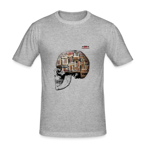 GSF MIND FULL OF BOOKS DESIGN - Männer Slim Fit T-Shirt