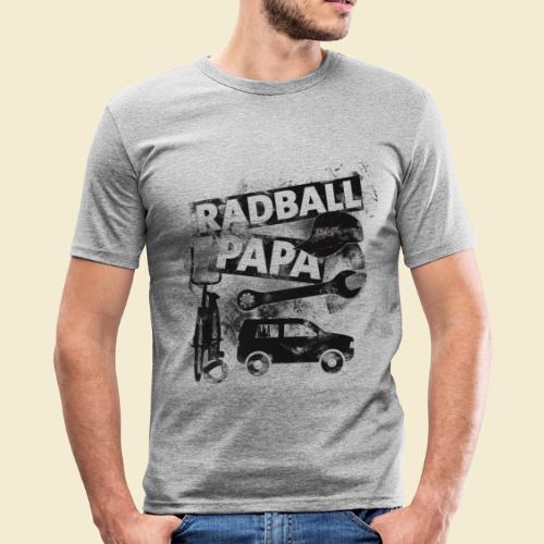 Radball | Papa - Männer Slim Fit T-Shirt