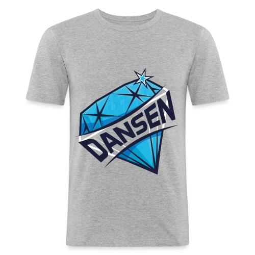 Dansen Logo Full Print - Männer Slim Fit T-Shirt