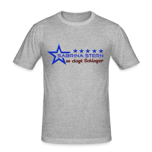 SABRINA STERN LOGO - Männer Slim Fit T-Shirt