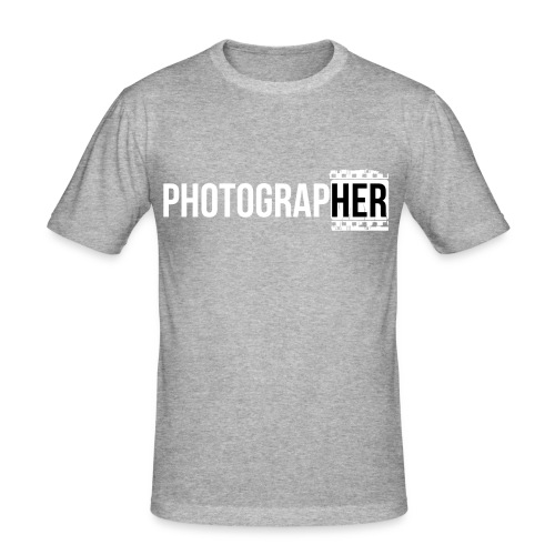 Photographing-her - Men's Slim Fit T-Shirt