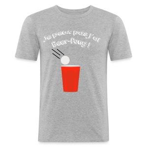 Je peux pas j'ai Beer-Pong ! - Tee shirt près du corps Homme