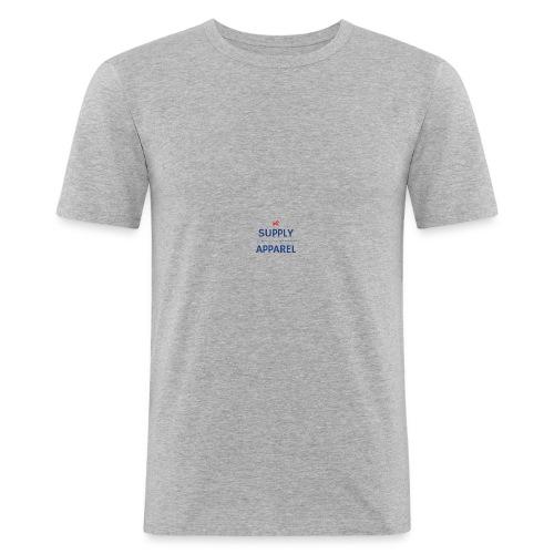 Plain EST logo design - Men's Slim Fit T-Shirt