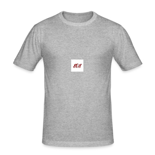 808 red on white box logo - Men's Slim Fit T-Shirt