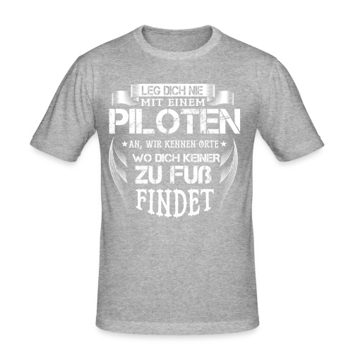 Pilot - Männer Slim Fit T-Shirt