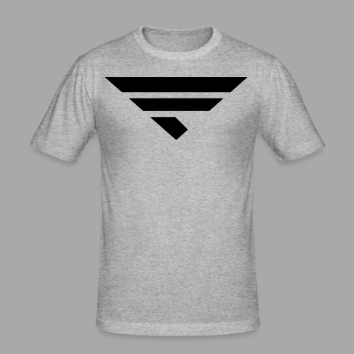 LOGO BLACK - Männer Slim Fit T-Shirt