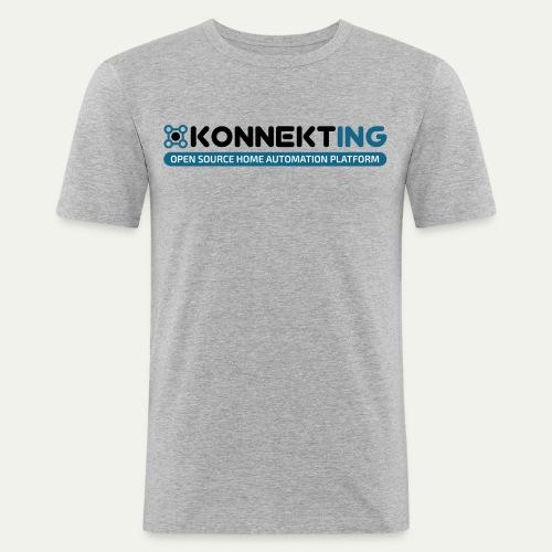 KONNEKTING Logo - Männer Slim Fit T-Shirt