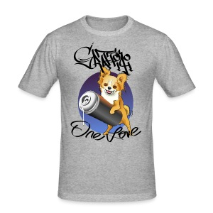 Chihuahua Graffiti one love - Männer Slim Fit T-Shirt