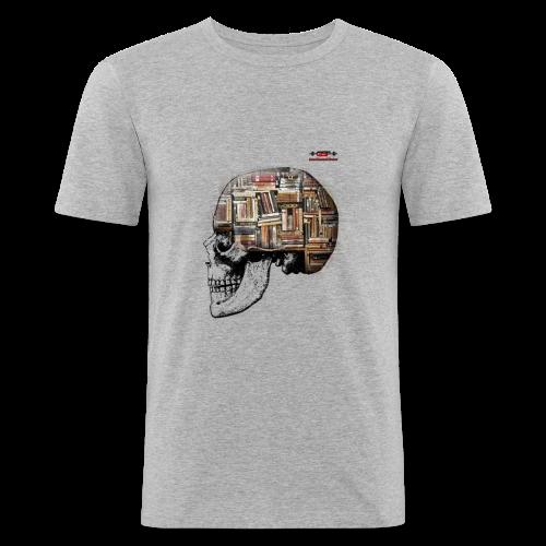 GSF MIND FULL OF BOOKS DESIGN - Männer Slim Fit T-Shirt