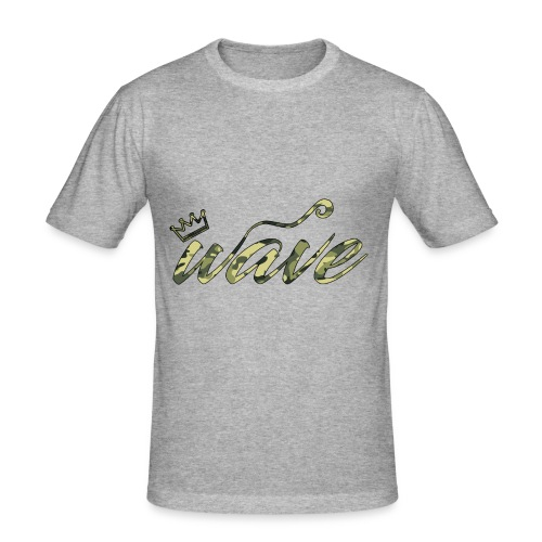 Camo Curvy Wave Clothing - Men's Slim Fit T-Shirt