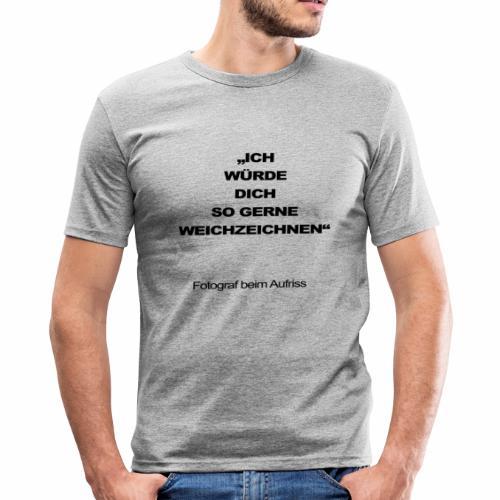 fotograf beim aufriss - Männer Slim Fit T-Shirt