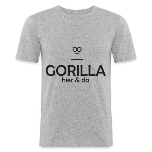 Gorilla hier & da Logo - Männer Slim Fit T-Shirt
