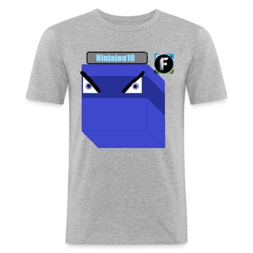Ninjajou10 T-shirt (with the Freedom! logo) - Men's Slim Fit T-Shirt