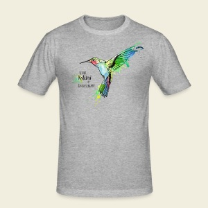 KOLIBRI im Taubenschwarm - Männer Slim Fit T-Shirt