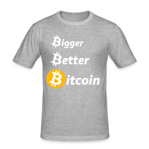 Bitcoin Slogan - Männer Slim Fit T-Shirt
