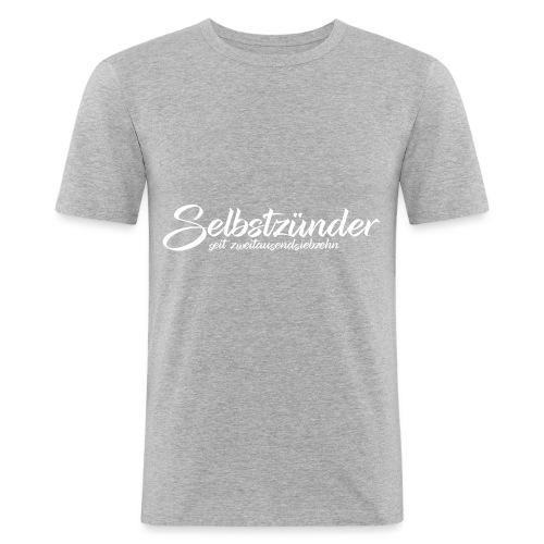 Selbstzünder Weiß seit2017 - Männer Slim Fit T-Shirt