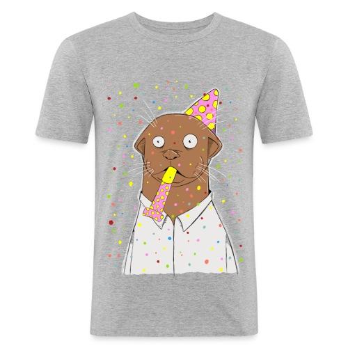Party, otter was? - Männer Slim Fit T-Shirt