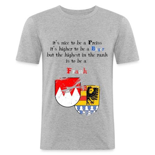 highest_frank_wappen_gro-- - Männer Slim Fit T-Shirt