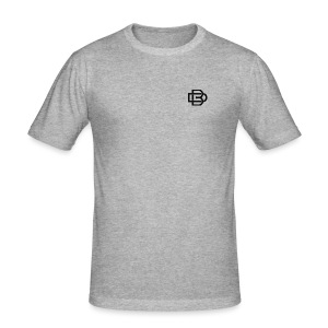 Black Monogram Logo - Men's Slim Fit T-Shirt