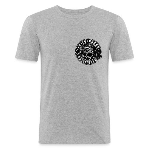 Silverback Attitude - Männer Slim Fit T-Shirt