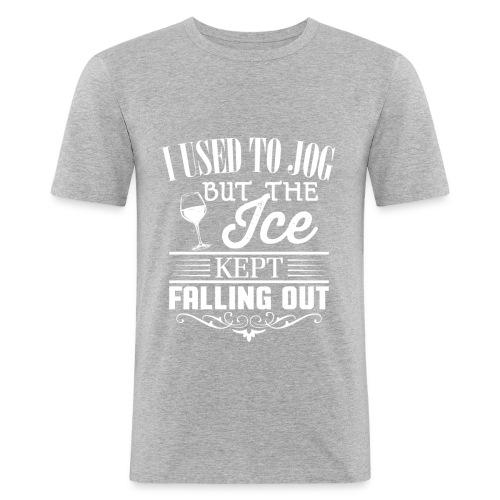 I used to jog - Slim Fit T-skjorte for menn