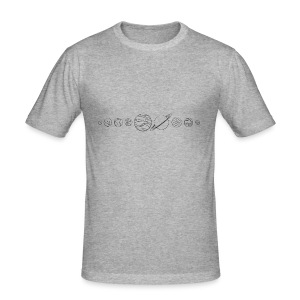 Planeten - Männer Slim Fit T-Shirt