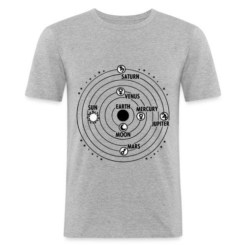 Orbit system - Männer Slim Fit T-Shirt