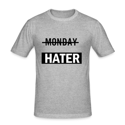 monday hater - Men's Slim Fit T-Shirt